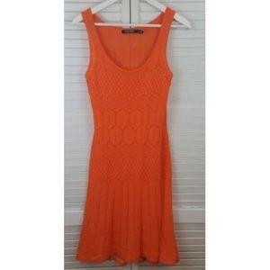 RALPH LAUREN Orange Knit Dress Sz XS